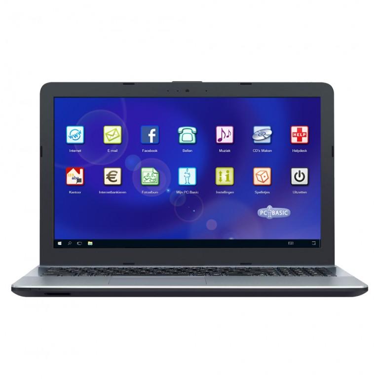 PC Basic laptop startscherm