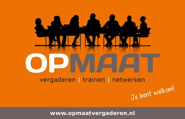 OpMaat Vergaderen Welkom logo